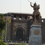 Shaniwarwada Fort and statue of Shivaji
