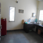 Big kitchen with gas cooking range, all utensils, fridge, water purifier, water kettle, iron