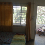 The second bedroom with own attached bathroom (toilet and shower) and quite balcony not facing any road